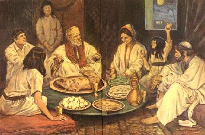 Ancient Jewish Family Seder