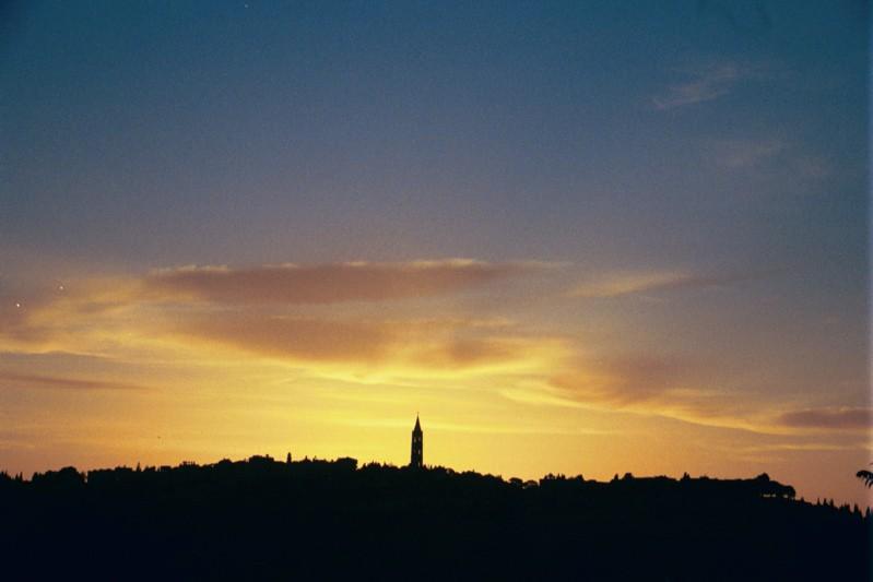 Sunrise over the Mt of Olives, Jerusalem